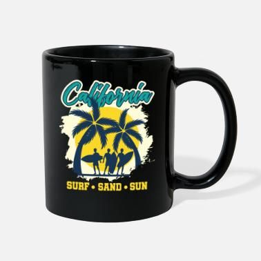 Under Water California USA Summer Sun Surfing Palm Trees Sea - Full Color Mug