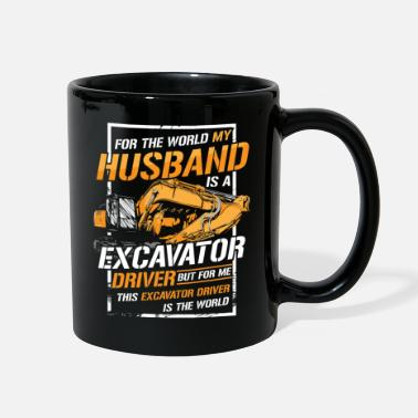 Worker Female Construction Worker Shirt - Husband - Full Color Mug
