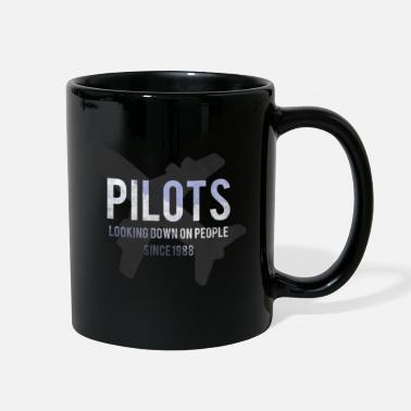 Jet Pilots Looking Down On People Graphic Design - Full Color Mug