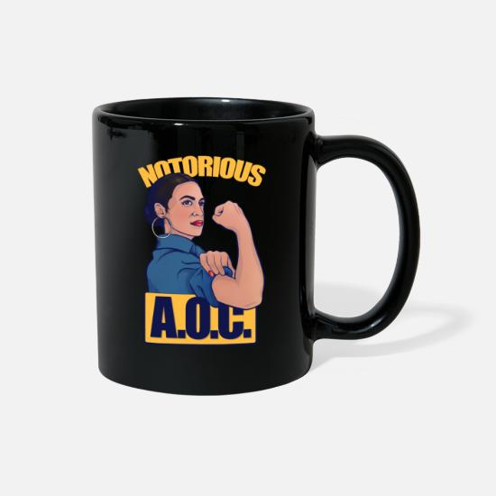 Alexandria Mugs & Drinkware - Notorious AOC alexandria ocasio cortez - Full Color Mug black