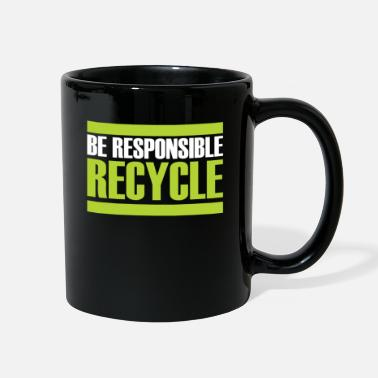 Sustainable Recycling gift sustainability sustainable - Full Color Mug