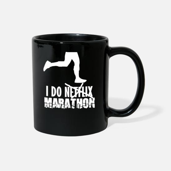 Half-marathon Mugs & Drinkware - Jogger Marathon Runner Marathon Half Marathon Run - Full Color Mug black