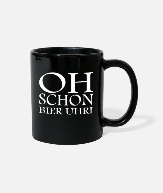Oh Beer Mugs & Cups - Oh Even beer o'clock! funny saying - Full Color Mug black