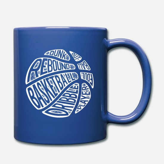3 Point Mugs & Drinkware - Funny Basketball Shirt - Full Color Mug royal blue