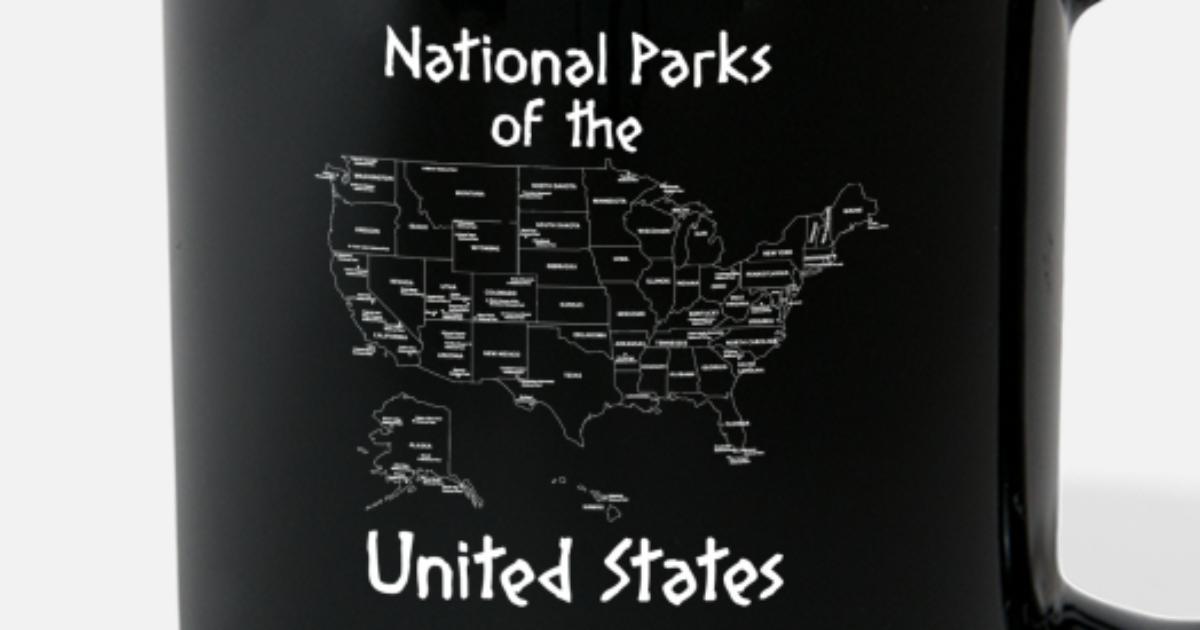 8c83e1f4731 National Parks Map Camping Shirt Full Color Mug | Spreadshirt