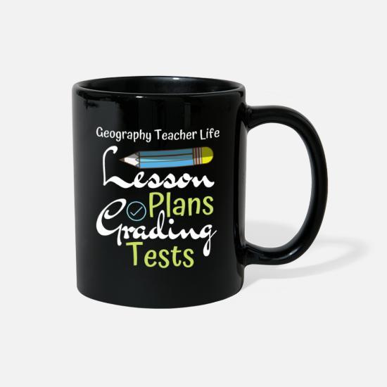 Geography Teacher Life Lesson Plans Grading Tests Full Color Mug