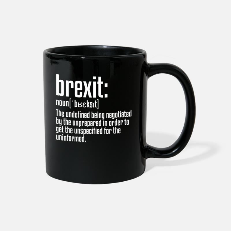 British Mugs & Drinkware - Brexit Definition | British Exit, European Union - Full Color Mug black