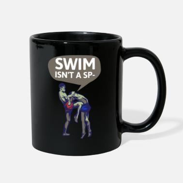 swimmer swimming water sports pool gift h2o - Full Color Mug
