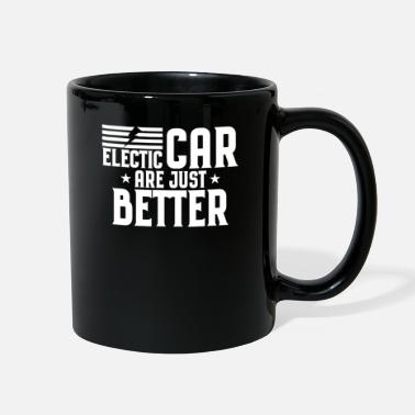 Energy-conscious Electric car electromobility electricity gift - Full Color Mug