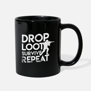 Kill To Survive Drop Loot Survive Repeat Battle Royale Gamer - Full Color Mug