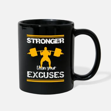 No Excuses Stronger than your excuses fitness shirt - Full Color Mug