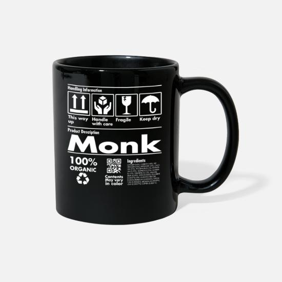 Religious Mugs & Drinkware - Product Description Tshirt - Monk Edition - Full Color Mug black