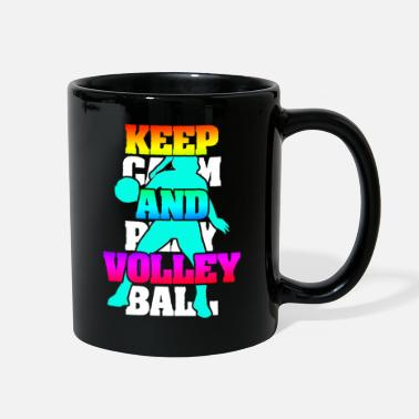 Volley Keep Calm And Play Volleyball - Full Color Mug