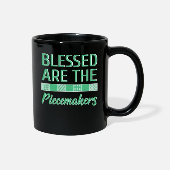Sewing Mugs & Drinkware - Blessed Are the Piecemakers - Full Color Mug black