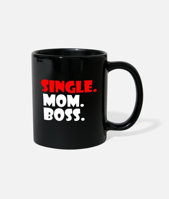 Status Mugs & Cups - Single Mother - Full Color Mug black
