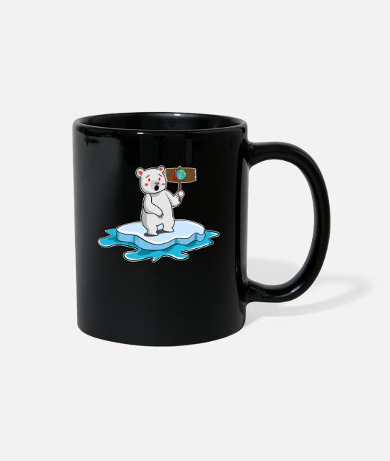 Earth Mugs & Cups - Save the polar bears - Planet Earth gift idea - Full Color Mug black