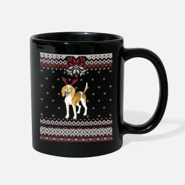Ugly Christmas American Foxhound Ugly Christmas GraphicDog Owner - Full Color Mug