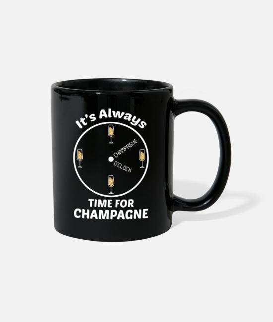 Hangover Mugs & Cups - Its always time for Champagne - Champagne o´clock - Full Color Mug black