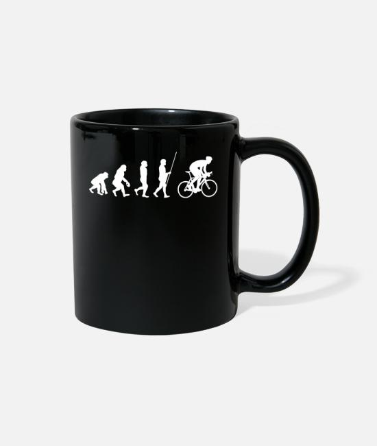 Cycling Mugs & Cups - Bicycle evolution - cyclist gift idea - Full Color Mug black