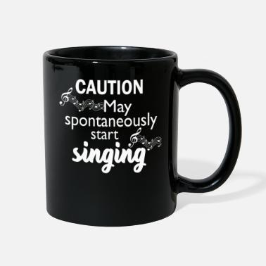 Start Funny Music Lover Gift Love Sing Caution - Full Color Mug