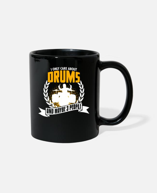 Hobby Cook Mugs & Cups - Funny Drums Tee Christmas Present - Full Color Mug black