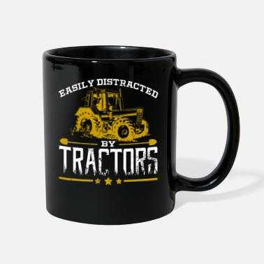 Distracted Tractors Easily Distracted By Tractors Tractor Farmer - Full Color Mug