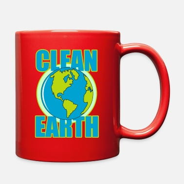 Clean Earth Clean Earth, Earth Day, - Full Color Mug
