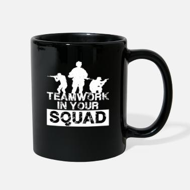 Gaming Gamer Gaming Game Shooter Team Teamwork Battle - Full Color Mug