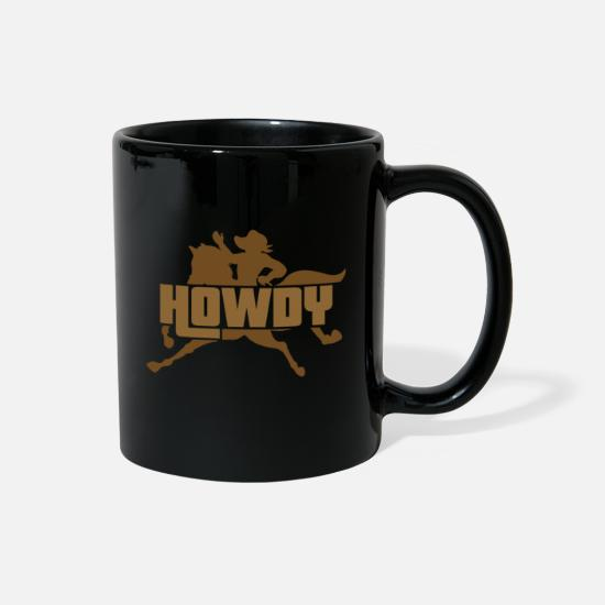 Cowboy Mugs & Drinkware - Rodeo Freedom - Full Color Mug black