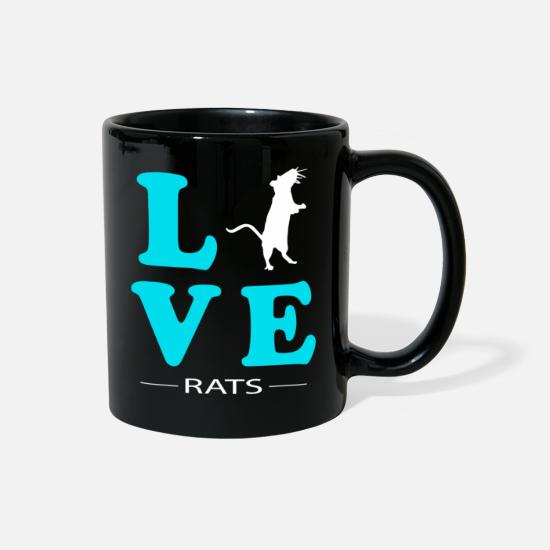 Animal Rights Activists Mugs & Drinkware - Rat - Full Color Mug black