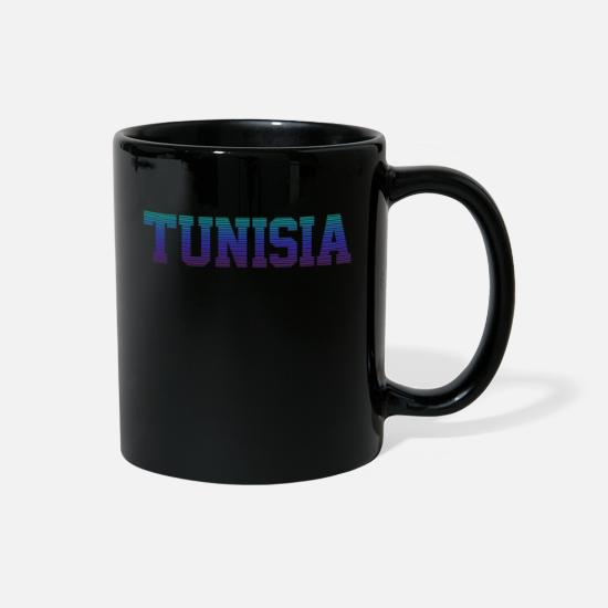 Country Mugs & Drinkware - Tunisia - Full Color Mug black