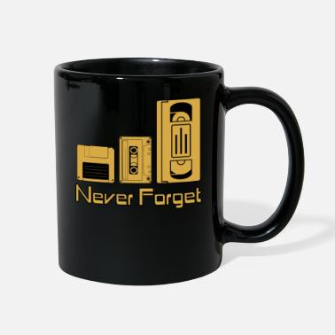 Vhs Tapes Never Forget Tee Shirt Funny Floppy Disk VHS TAPE - Full Color Mug