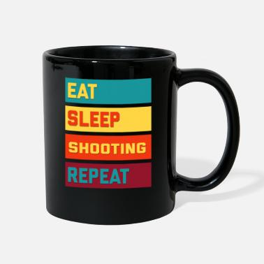 Sports Eat Sleep Shooting Repeat Retro Edition - Full Color Mug