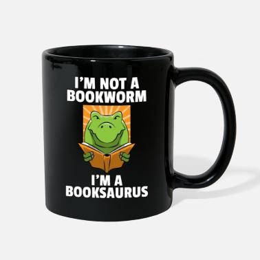 Mothers Day Dino Read Book Reading Rex Lovers Funny Cute Gift - Full Color Mug