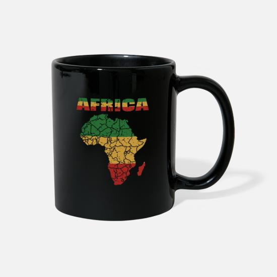 Continent Mugs & Drinkware - African Roots Culture Afro Card Gift - Full Color Mug black