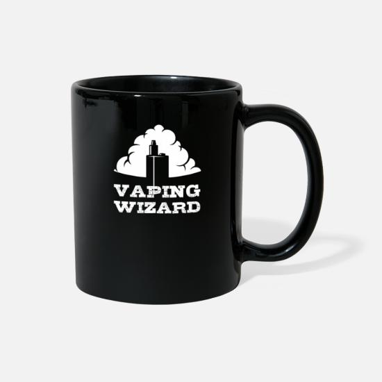Mummy Mugs & Drinkware - Vaping Wizard Vaper E-Cigarette Gift Liquid Coil - Full Color Mug black