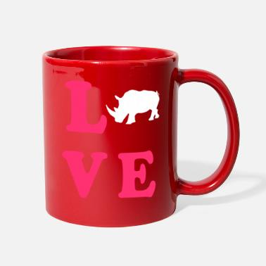 Black Rhinoceros Rhinoceros Love - Full Color Mug