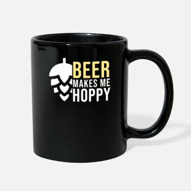 Stout Beer Makes Me Hoppy Funny Craft Beer Gift - Full Color Mug