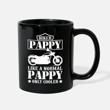 Biker Mens Fathers Day Cool Biker Pappy Motorcycle - Full Color Mug