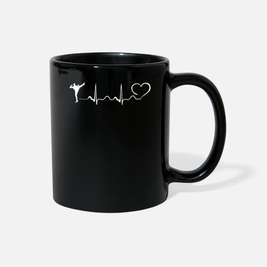 Judo Mugs & Drinkware - Mma Heartbeat Ekg FIGHT DESIGN - Full Color Mug black