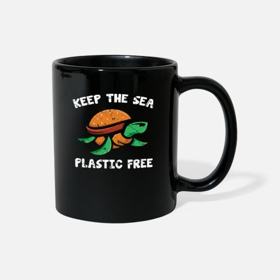 Animal Rights Activists Mugs & Drinkware - Turtle Animal Rights Activist - Full Color Mug black