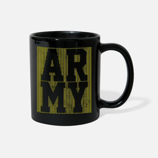 Army Mugs & Drinkware - Army Soldier - Full Color Mug black