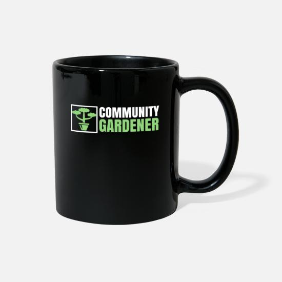 Birthday Mugs & Drinkware - Gardener community - Full Color Mug black