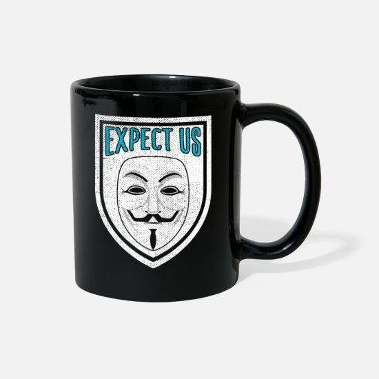 Web Mugs & Drinkware - Anonymous - Full Color Mug black