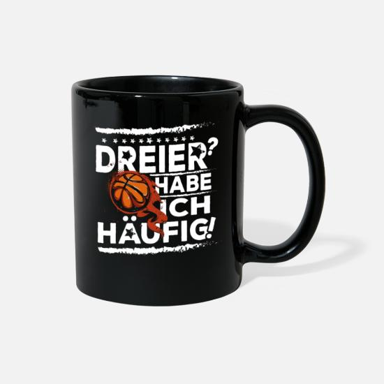 German Mugs & Drinkware - Basketball Basketballer Gift Funny - Full Color Mug black