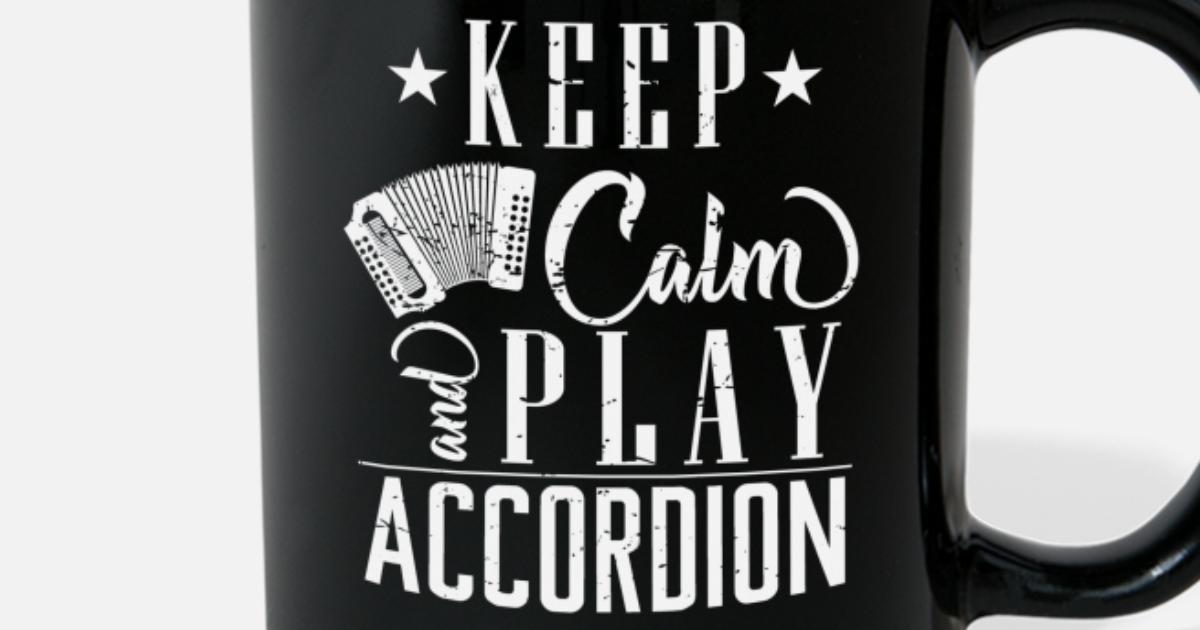 Funny saying accordion musician chapel gift Full Color Mug   Spreadshirt