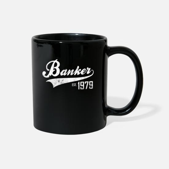 Birthday Mugs & Drinkware - Banker 1979 - Full Color Mug black