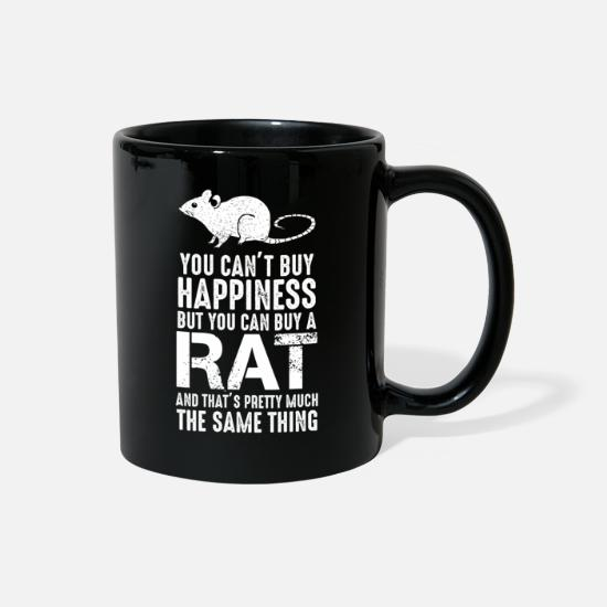 Rat Mugs & Drinkware - Funny Rat Shirt for Rat Lovers Rat Owner - Full Color Mug black