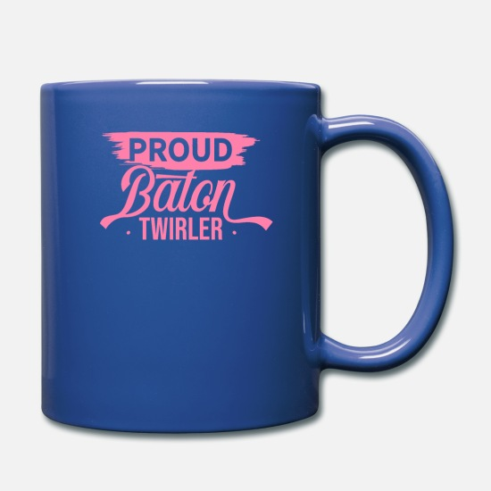 Sports Mugs & Drinkware - Sports Baton Twirling Twirl Batons Baton Twirler - Full Color Mug royal blue