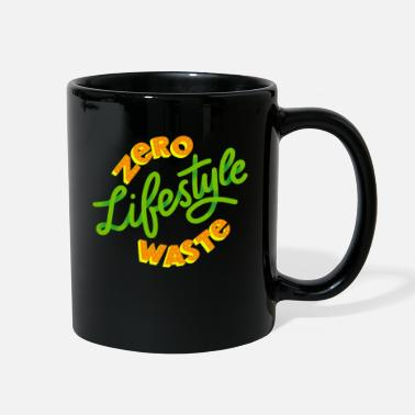 Reuse Zero Waste Save Planet Earth Green Lifestyle Skip - Full Color Mug